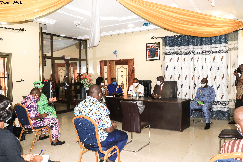 Rencontre d'échanges entre le DAGL et le bureau exécutif de la Commune d'Agoè-Nyivé 1