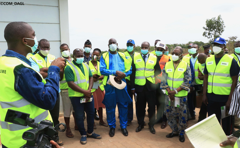 Le Ministre d'Etat Boukpessi et les Maires des Communes du Grand Lomé ont visité les installations du CET d'Aképé